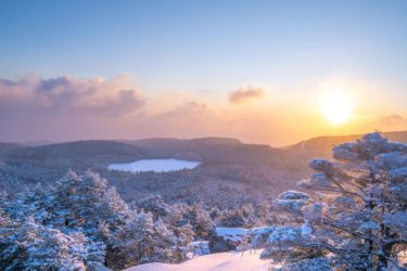 冬の高見石小屋に登山キャンプ