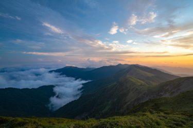 四国 三嶺(みうね)に登山してキャンプした